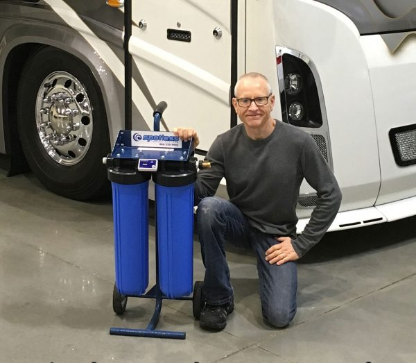 Washing your RV with CR Spotless Water Systems