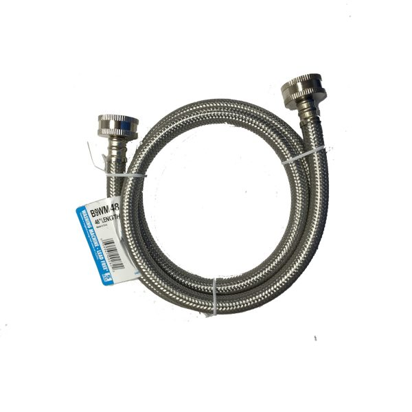 stainless steel inlet hose cr spotless water systems. Black Bedroom Furniture Sets. Home Design Ideas