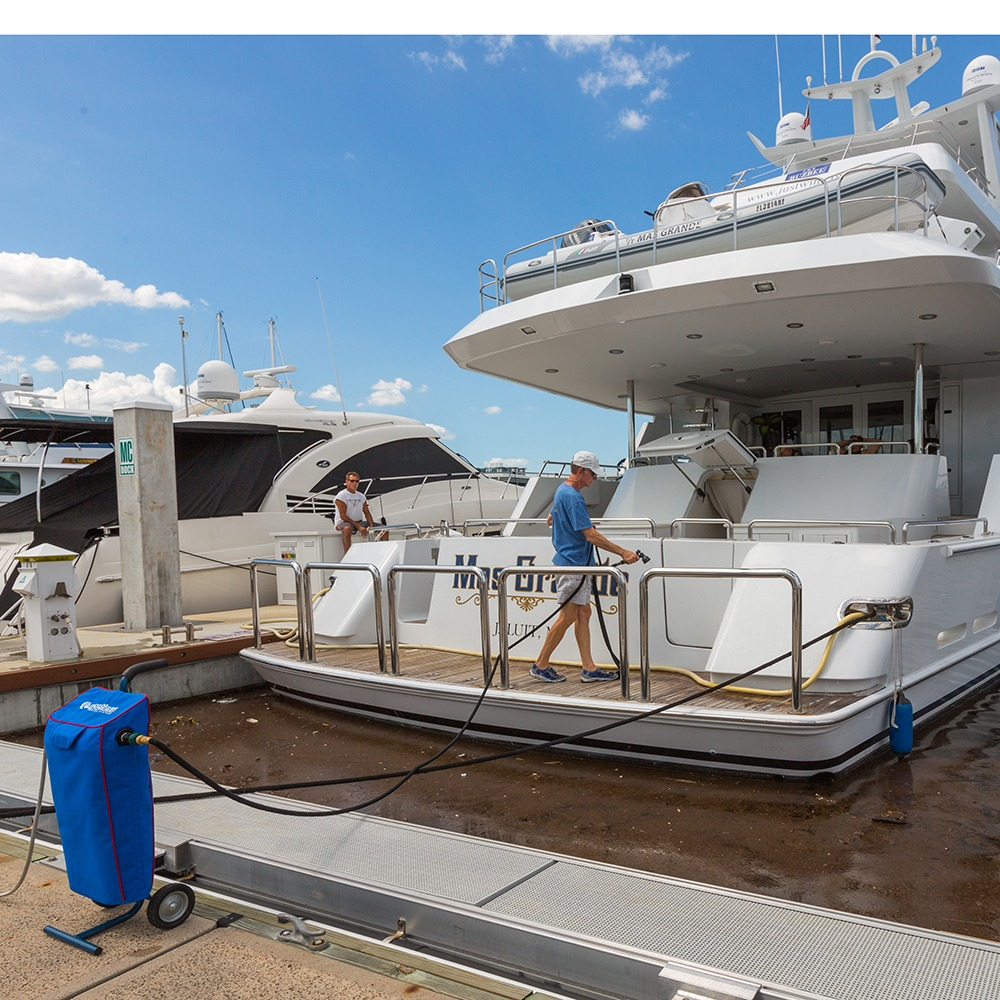 Boat Washing with CR Spotless Water Systems