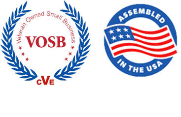 Veteran-Owned Small Busines. Proudly Assembled in the U.S.A